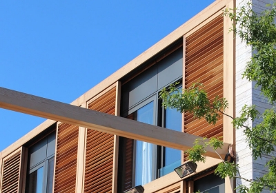 SLIDING SHUTTERS WITH WOODEN FRAME