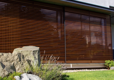 SLIDING SHUTTERS WITH METAL FRAME